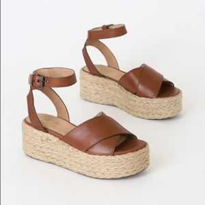 New Seychelles Espadrille Flatform Platform Sandal